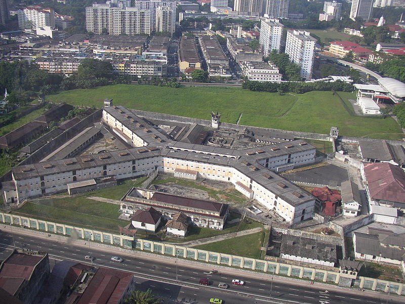 Top view of the Pudu prison